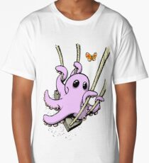 Octopus Swinging with Butterfly Long T-Shirt