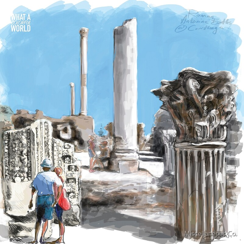 Roman Antoine Baths, Tunisia T-shirt, Posters and Gifts | Art Print