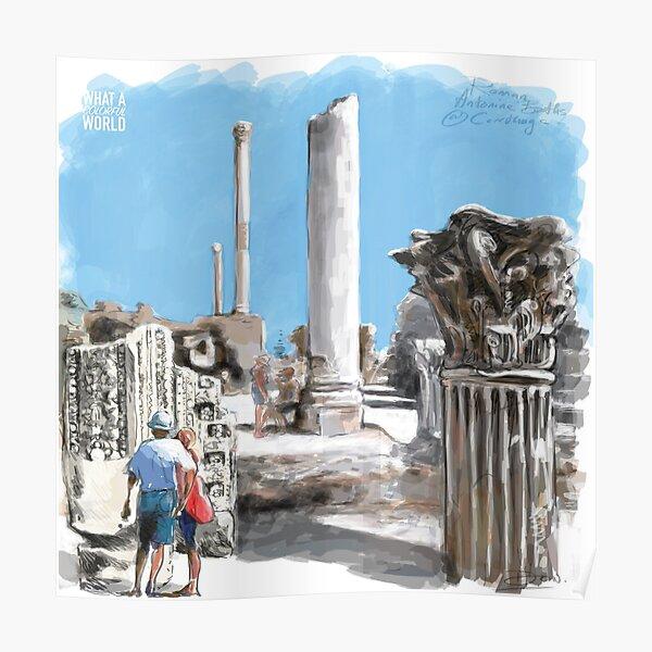 Roman Antoine Baths, T-shirt, Affiches et Cadeaux Tunisie Poster