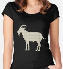 Goats silhouette Women's Fitted Scoop T-Shirt