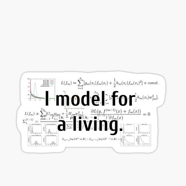 I Model for a Living Pegatina