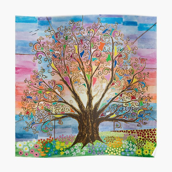 Tree of Life with Pastel Sky Poster