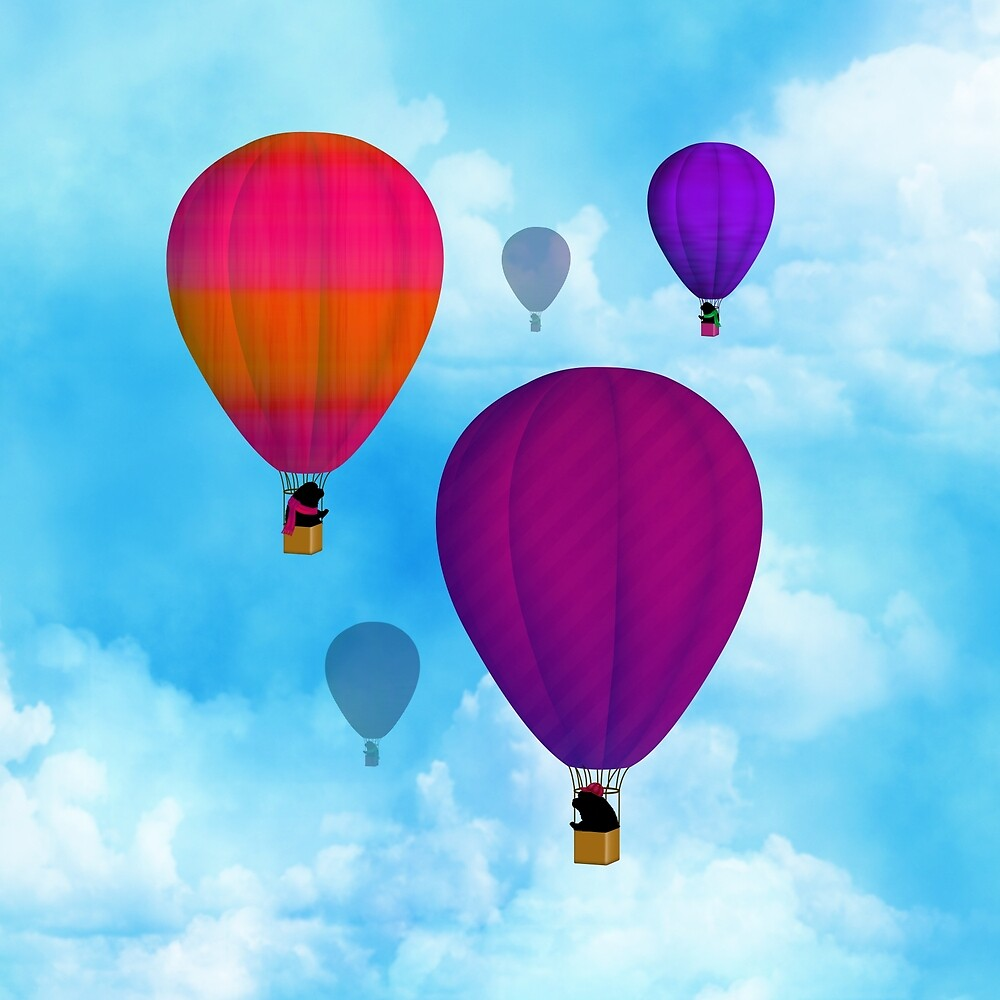 Hot Air Newfies by Christine Mullis