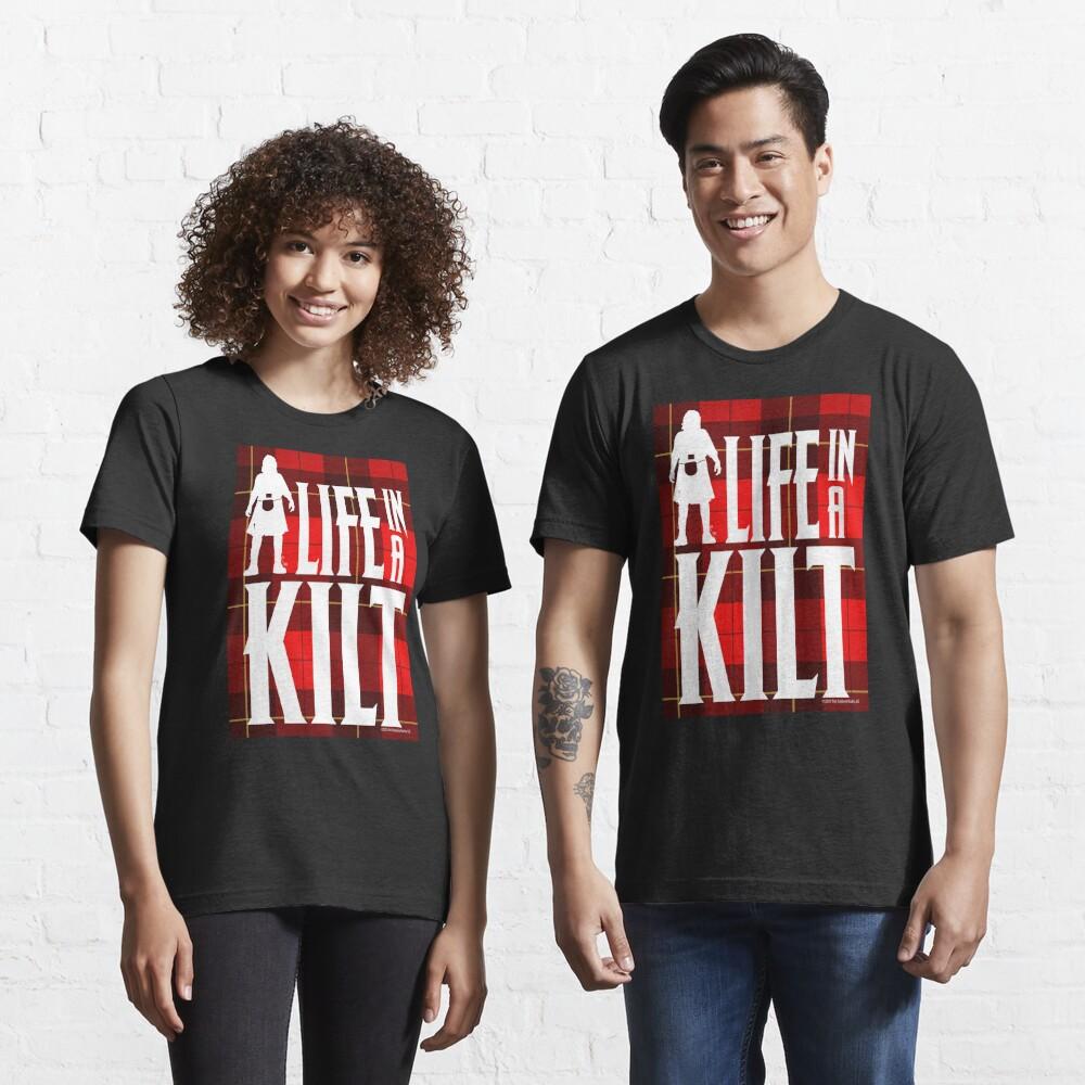 Life In A Kilt Scottish Tartan Essential T-Shirt