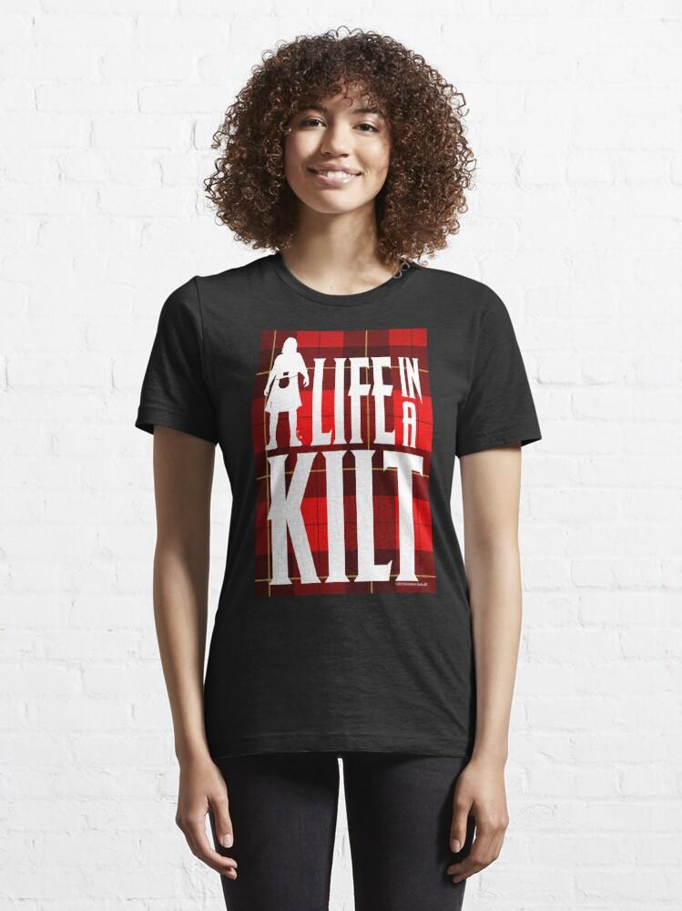 Alternate view of Life In A Kilt Scottish Tartan Essential T-Shirt