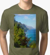 Kalalau Trail Kauai Tri-blend T-Shirt