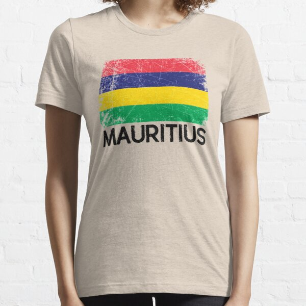 Mauritian Flag Design | Vintage Made In Mauritius Gift Essential T-Shirt