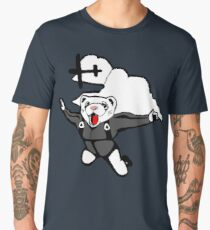 Skydiving Ferret Men's Premium T-Shirt