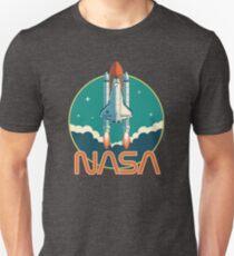 NASA Retro Space Shuttle Logo Slim Fit T-Shirt