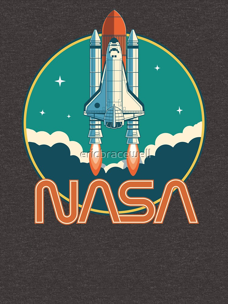 NASA Retro Space Shuttle Logo by ericbracewell
