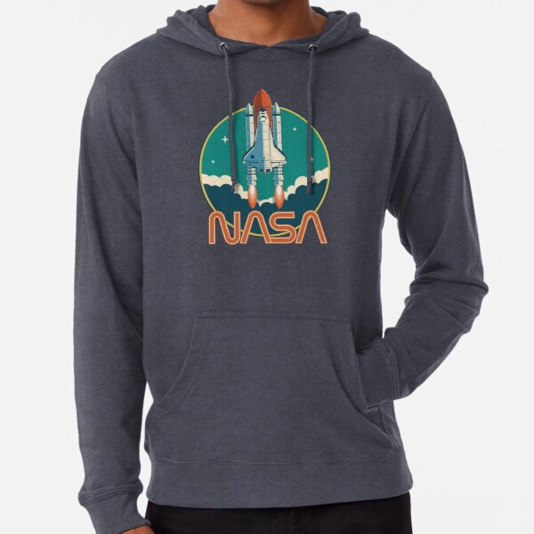 NASA Retro Space Shuttle Logo Lightweight Hoodie