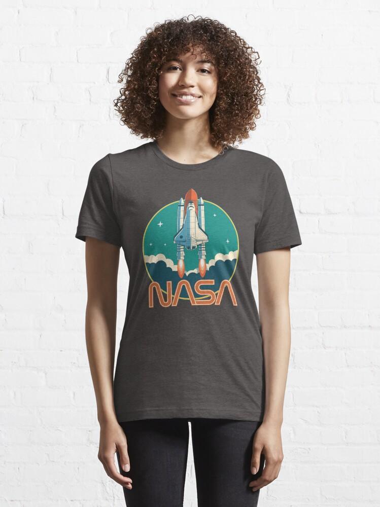 Alternate view of NASA Retro Space Shuttle Logo Essential T-Shirt