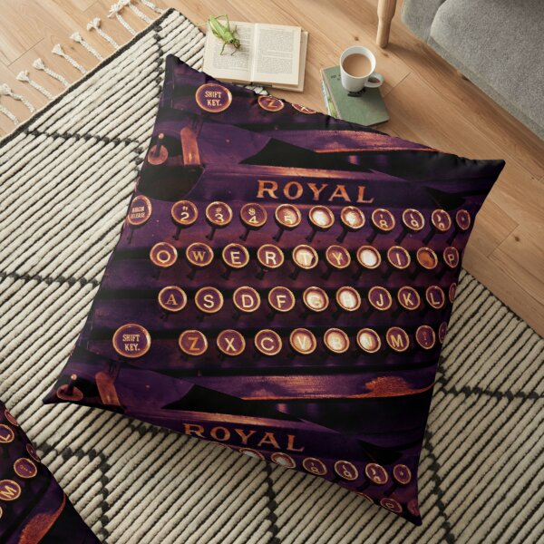 Old-Style Writing Life Floor Pillow