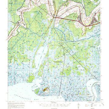 USGS TOPO Map Louisiana LA Belle Isle 334273 1967 62500 by wetdryvac