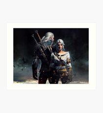 Ciri & Geralt Witcher 3 Art Art Print