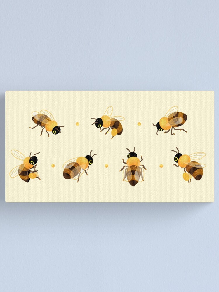 Alternate view of Honey bees Canvas Print