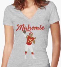 Patrick Mahomes (Mahomie) Women's Fitted V-Neck T-Shirt