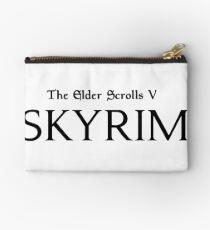 The Elder Scrolls V Skyrim Logo (Black) Studio Pouch