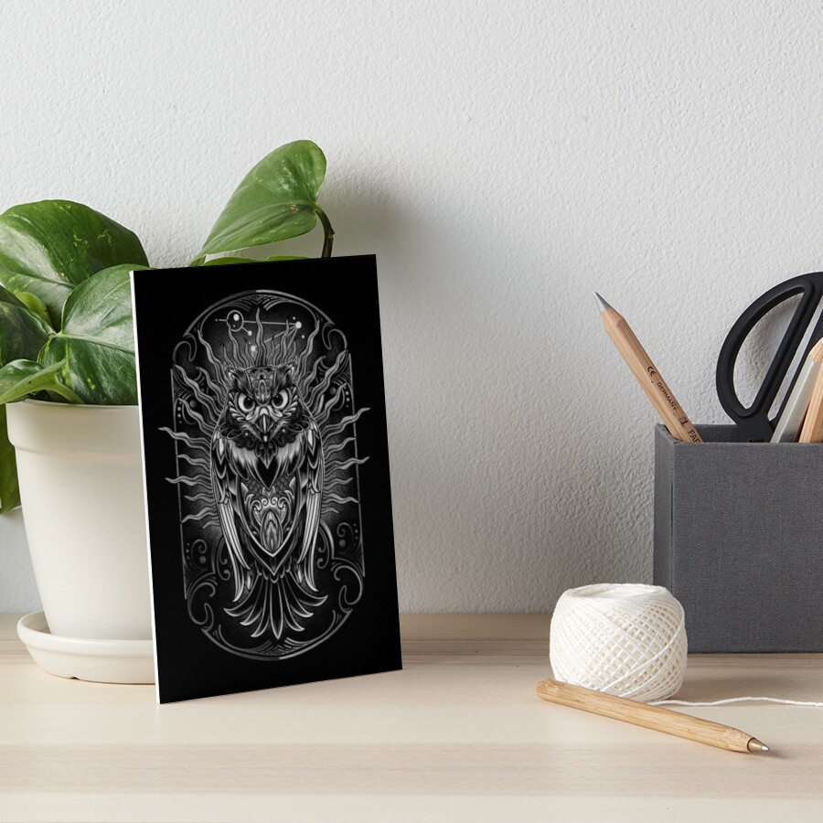 Owl - The Watcher V2 Art Board Print