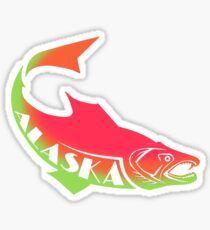 ALASKA SALMON ~ cups, mugs, scarves, leggings and more Sticker
