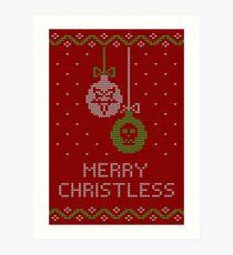 Merry Christless red Art Print