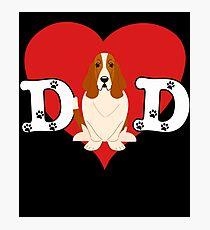 Dad Basset Hound - Gift For Basset Hound Lover Photographic Print