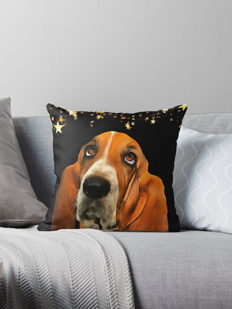 A Basset Hound. (Painting.) by Colin Majury