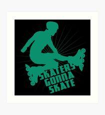 Inline skates Art Print
