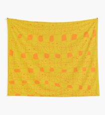 Geometric in Yellow and Orange Wall Tapestry