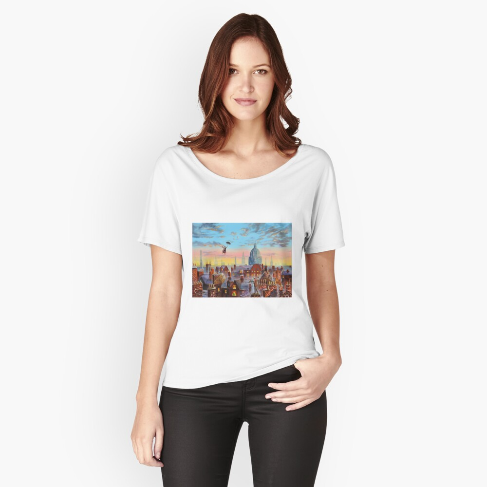 Mary Poppins & Bert II Relaxed Fit T-Shirt