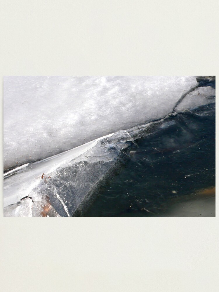Alternate view of Ice Fold Photographic Print
