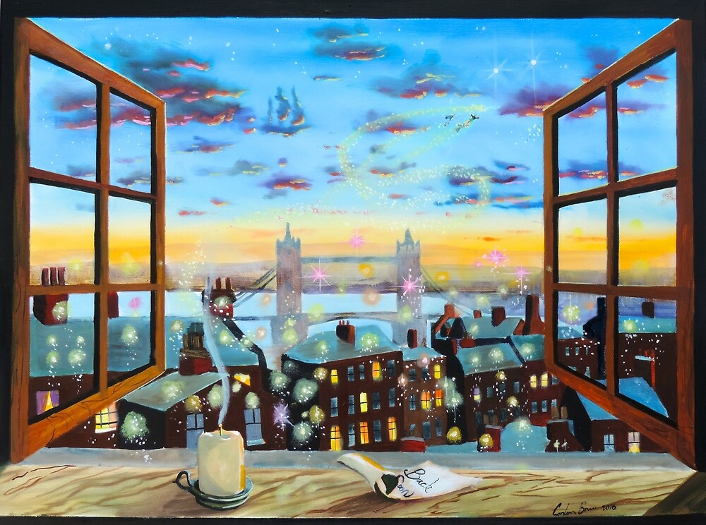 Second star to the right a Peter Pan inspired painting by GORDON BRUCE ART