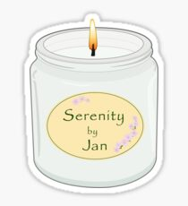 Serenity by Jan Candle  Sticker