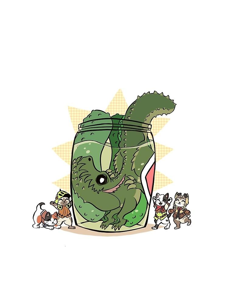 Pickle Monster by megtalgearsalad