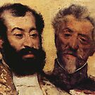 Edgar Degas French Impressionism Oil Painting Two Bearded Men by jnniepce