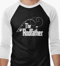 The Rodfather Fishing Parody T Shirt Men's Baseball ¾ T-Shirt