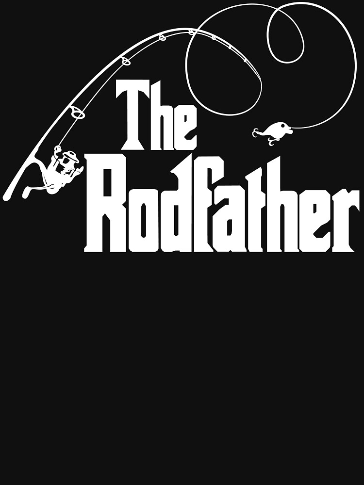 The Rodfather Fishing Parody T Shirt by bitsnbobs