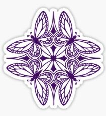 butterfly mandala - one flutter! Sticker