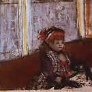 Edgar Degas French Impressionism Oil Painting Girl in Cafe by jnniepce