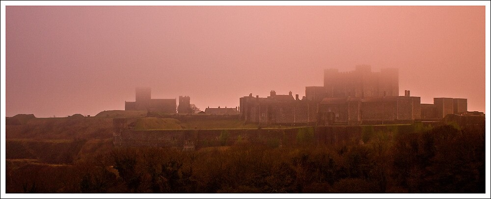 Dover Castle Shrouded In Mist by AloneImages