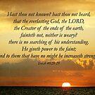 Isaiah 40:28-29 by Jonicool
