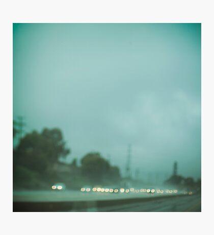 A Los Angeles Rainy Day Photographic Print