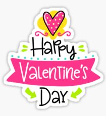 Happy Valentine's Day TShirt - Valentine Tee Sticker