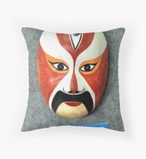 Bangzi opera mask Throw Pillow