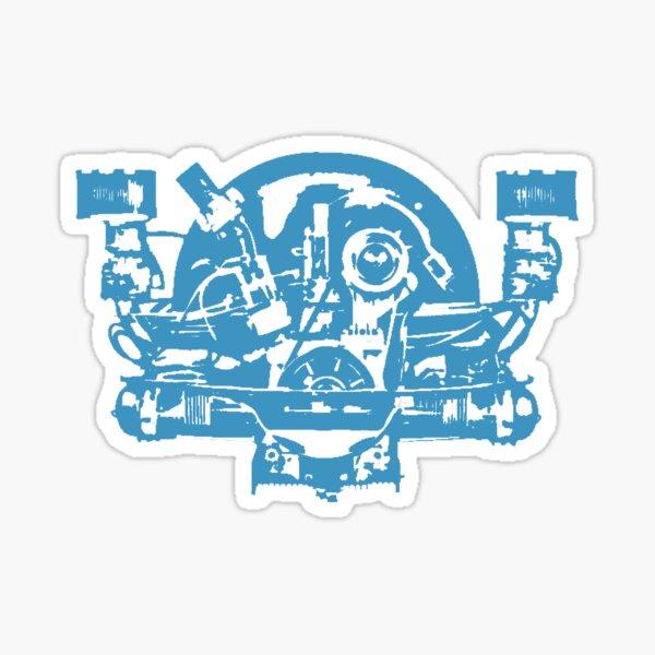 aircooled blue engine Sticker