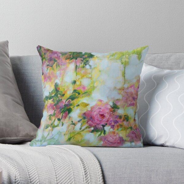 Roses, peinture florale baroque Coussin