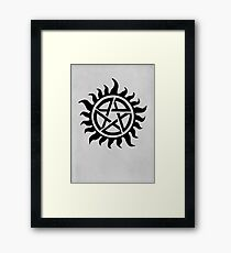 Supernatural Demon Possession Protection [BLACK] Framed Print
