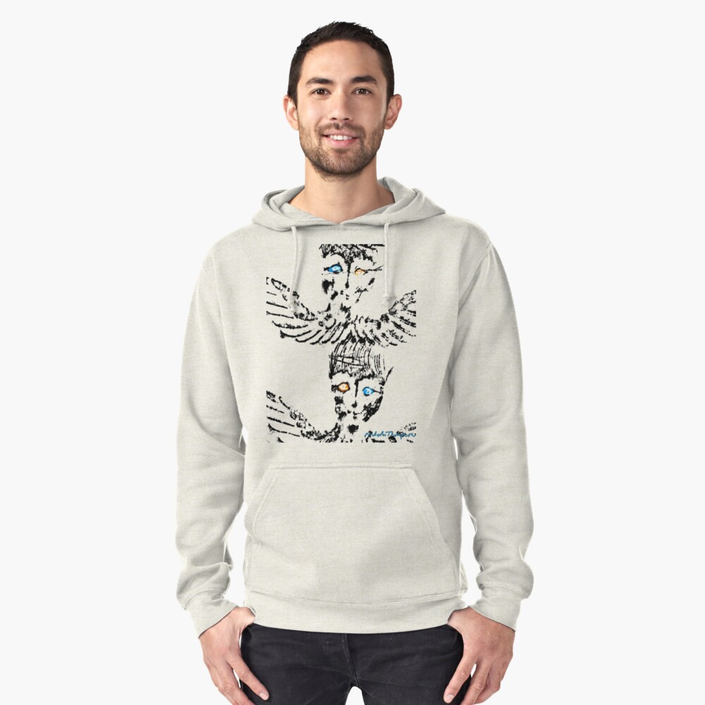 Abstract Angels Pullover Hoodie Front