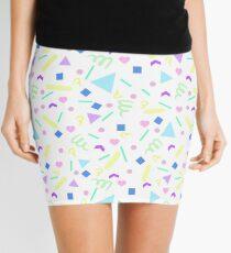Retro Pastel Confetti in White Mini Skirt