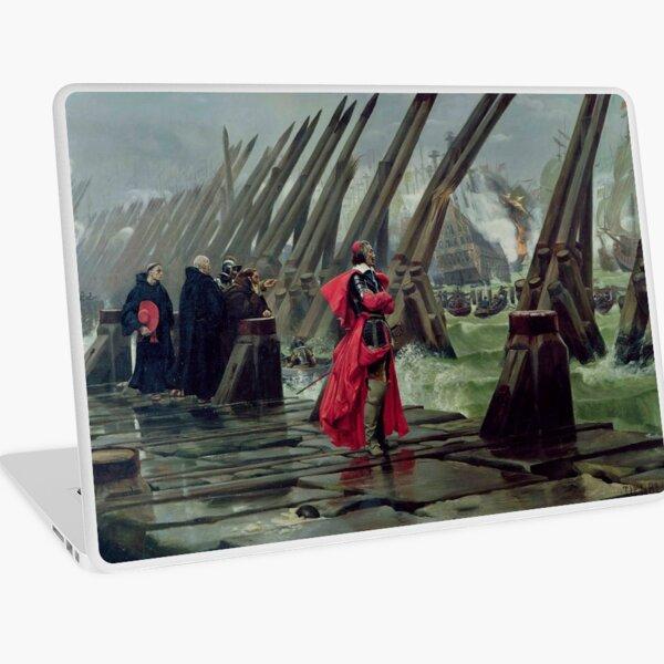 Cardinal Richelieu at the Siege of La Rochelle - Henri Paul Motte Laptop Skin